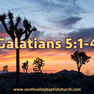 Galatians 5 Justification by Faith