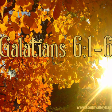 Galatians 6 Justification by Faith